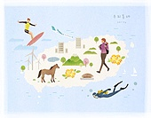 대한민국 (한국), 랜드마크, 여행, 지도, 제주시 (제주도), 제주도 (대한민국)