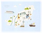 대한민국 (한국), 랜드마크, 여행, 지도, 부산 (대한민국), 태종대