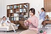 가족, 커뮤니케이션문제 (커뮤니케이션), 무관심