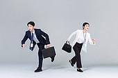 비즈니스, 비즈니스맨, 비즈니스우먼, 동료 (역할), 경쟁 (컨셉), 달리는 (물리적활동), 방향