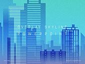 파워포인트, 메인페이지, 도시, 고층빌딩 (회사건물), 실루엣, 비즈니스, 스카이라인, 백그라운드