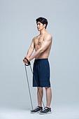 한국인, 운동, 피트니스강사 (강사), 선수 (역할), 헬스클럽 (레저시설), 웨이트트레이닝, 근육질 (사람체격), 건강한생활 (주제), 건강관리 (주제), 운동기구, 탄성밴드 (운동기구)