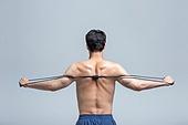 한국인, 운동, 피트니스강사 (강사), 선수 (역할), 헬스클럽 (레저시설), 웨이트트레이닝, 근육질 (사람체격), 건강한생활 (주제), 건강관리 (주제), 사람등 (사람몸통), 운동기구, 탄성밴드 (운동기구)