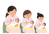 환자, 임신 (물체묘사), 탄생 (사건), 엄마, 아기우유병 (유아용품), 아기 (인간의나이)