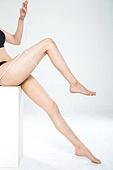 여성, 뷰티, 다이어트, 의료성형뷰티 (주제), 몸 (인간의특성), 줄자, 측정, 허벅지