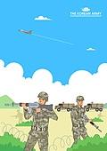 일러스트, 국군의날, 군인, 군복 (유니폼), 대한민국 (한국), 경계선 (인공구조물)