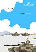 일러스트, 국군의날, 군인, 군복 (유니폼), 대한민국 (한국)