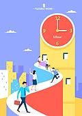 일러스트, 노동자 (직업), 근로자의날 (홀리데이), 비즈니스, 생활계획표 (프로젝트), 시간, 시간제근무 (직업), 계약