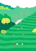 여행, 풍경 (컨셉), 카피스페이스 (콤퍼지션), 사람, 휴가, 한국 (동아시아), 여행지, 봄, 차재배 (농작물)