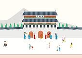 여행, 풍경 (컨셉), 카피스페이스 (콤퍼지션), 사람, 휴가, 한국 (동아시아), 여행지, 봄, 서울 (대한민국), 소풍, 광화문