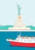 여행, 풍경 (컨셉), 카피스페이스 (콤퍼지션), 사람, 휴가, 뉴욕주 (미국), 자유의여신상 (뉴욕시), 페리