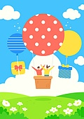 가정의달 (홀리데이), 5월, 기념일, 사람, 봄, 어린이날 (홀리데이), 어린이 (인간의나이), 풍선, 선물 (인조물건), 꽃