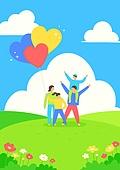 가정의달 (홀리데이), 5월, 기념일, 사람, 봄, 어린이날 (홀리데이), 어린이 (인간의나이), 풍선, 꽃