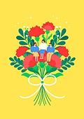 가정의달 (홀리데이), 5월, 기념일, 사람, 카네이션, 꽃, 카네이션 (패랭이꽃), 선물 (인조물건), 감사, 스승의날, 학생, 교복, 교사 (교육직)