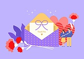 가정의달 (홀리데이), 5월, 기념일, 사람, 카네이션, 꽃, 카네이션 (패랭이꽃), 선물 (인조물건), 감사, 스승의날, 학생, 교복
