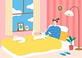 팬츠드렁크, 집, 편안함 (컨셉), 라이프스타일, 휴식, 반려동물, 고양이 (고양잇과)