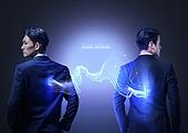그래픽이미지, 4차산업혁명 (산업혁명), 5G, 산업, 기술, 홀로그램, 비즈니스맨, 초고속정보통신망, 광섬유 (원거리통신장비), 비즈니스우먼
