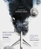 그래픽이미지, 합성, 잉크, 번짐, 오브젝트 (묘사), 탑앵글 (카메라앵글), 포스터, 비행기, 여행, 비즈니스맨