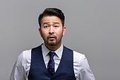 40-49세 (중년), 성인 (인간의나이), 얼굴표정 (커뮤니케이션컨셉), 감정, 불만