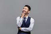 40-49세 (중년), 성인 (인간의나이), 얼굴표정 (커뮤니케이션컨셉), 감정, 즐거움, 상상력 (컨셉)