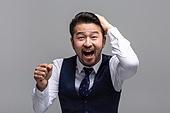 40-49세 (중년), 성인 (인간의나이), 얼굴표정 (커뮤니케이션컨셉), 감정, 밝은표정, 환호, 기쁨