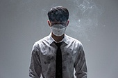 한국인, 한국인 (동아시아인), 대기오염 (공해), 공해, 공해마스크, 공해마스크 (마스크), 대기오염, 환경오염, 공해 (환경오염), 스모그, 마스크 (방호용품), 독성물질, 금연 (흡연문제), 흡연 (주제), 흡연문제 (컨셉), 흡연문제