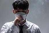 한국인, 한국인 (동아시아인), 대기오염 (공해), 공해, 공해마스크, 공해마스크 (마스크), 대기오염, 환경오염, 공해 (환경오염), 스모그, 마스크 (방호용품), 독성물질, 금연 (흡연문제), 흡연 (주제), 흡연문제 (컨셉), 흡연문제, 호흡