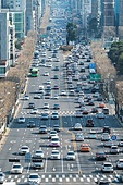 자동차, 거리 (도시도로), 교통, 육상교통수단, 서울 (대한민국), 교통체증 (교통), 러시아워 (주제), 도시거리