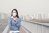 여성, 마스크 (방호용품), 대기오염 (공해)