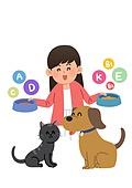 반려동물, 반려동물 (길든동물), 펫푸드 (애완동물장비), 영양제 (건강관리)
