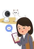 반려동물, 반려동물 (길든동물), 화상카메라 (미디어장비), 고양이 (고양잇과), 스마트폰
