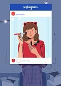 소셜미디어마케팅 (디지털마케팅), 인스타그램 (SNS), 인증 (컨셉), 허영심 (컨셉), 색조화장 (화장품), 뷰티, 여성 (성별)