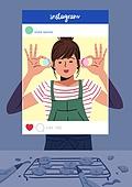 소셜미디어마케팅 (디지털마케팅), 인스타그램 (SNS), 인증 (컨셉), 허영심 (컨셉), 마카롱, 베이킹