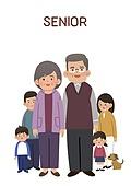공동체 (컨셉), 공동체, 사람, 노인 (성인), 어린이 (인간의나이), 가족, 대가족 (가족)