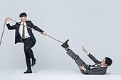 경쟁 (컨셉), 라이벌 (컨셉), 밧줄, 라이벌, 대결, 스트레스, 직장내괴롭힘 (괴롭힘)