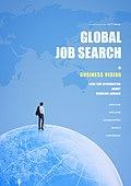 비즈니스, 포스터, 해외, 글로벌, 글로벌비즈니스, 구인광고, 채용 (고용문제), 신입사원 (화이트칼라), 지구 (행성)