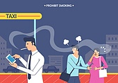 일러스트, 금연 (흡연문제), 금연표지판 (안내판), 세계금연의날 (사회이슈), 흡연문제 (컨셉), 흡연 (주제)