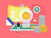 경제, 공유 (컨셉), 일러스트, 비즈니스, 공유경제 (경제), 크라우드펀딩 (컨셉), SNS (기술)