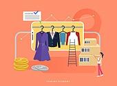 경제, 공유 (컨셉), 일러스트, 비즈니스, 공유경제 (경제), 옷, 드레스