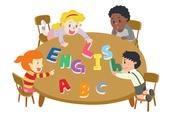 교육 (주제), 가르치는 (움직이는활동), 교과목 (사건), 일러스트, 영어 (교과목), 외국어