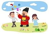 교육 (주제), 가르치는 (움직이는활동), 교과목 (사건), 일러스트, 한국어 (문자), 한글날, 세종대왕