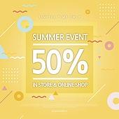 상업이벤트 (사건), 세일 (사건), 쇼핑 (상업활동), 패턴, 기하학모양 (도형), 타이포그래피 (문자), 여름, 온라인쇼핑
