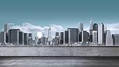 도시, 백그라운드, 고층빌딩 (회사건물), 도시풍경