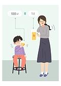 어린이 (인간의나이), 교육 (주제), 수학 (교과목), 주스 (차가운음료), 부모