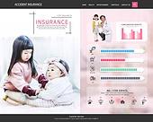 웹템플릿, 이벤트페이지, 상해 (건강이상), 보험 (주제), 건강한생활 (주제), 상해보험, 그래프, 아기 (인간의나이), 어린이보험 (보험)