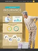 웹템플릿, 이벤트페이지, 상해 (건강이상), 보험 (주제), 건강한생활 (주제), 상해보험, 그래프, 노인 (성인), 노인건강 (실버라이프), 관절
