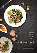 음식, 탑앵글, 포스터, 메뉴, 샐러드, 서양음식 (음식)