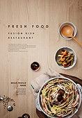 음식, 탑앵글, 포스터, 메뉴, 일본음식 (아시아음식), 밀푀유샤브샤브 (샤브샤브)