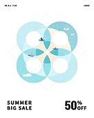 여름, 할인, 세일, 배너