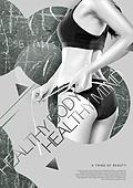그래픽이미지, 이벤트페이지, 포스터, 뷰티, 다이어트, 바디라인 (날씬함), 스킨케어 (뷰티), 여성, 패턴